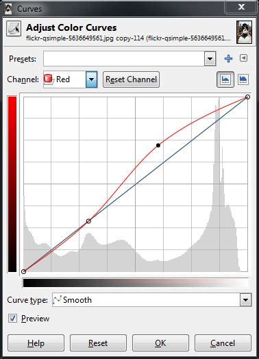gimp basic color curves