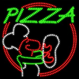 pizza guy animated led sign pizza led signs
