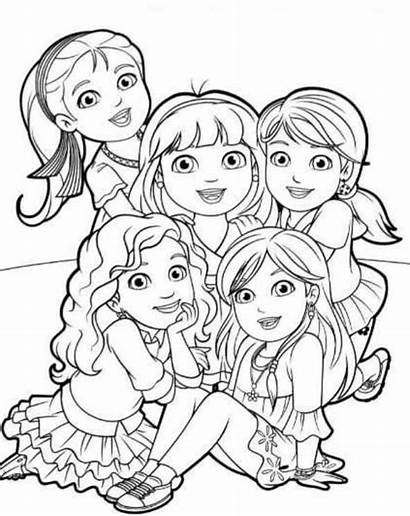 Coloring Dora Friends Pages Fun Printable Into