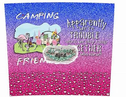 Camping Friends Digital Tumblers Skinny Sublimation