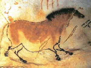 This Paleolithic cave painting shows how man were ...
