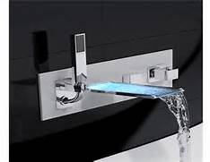 Bathtub Spigot Nissima Wall Mount Bathtub Faucet With LED And Hand Shower Faucets