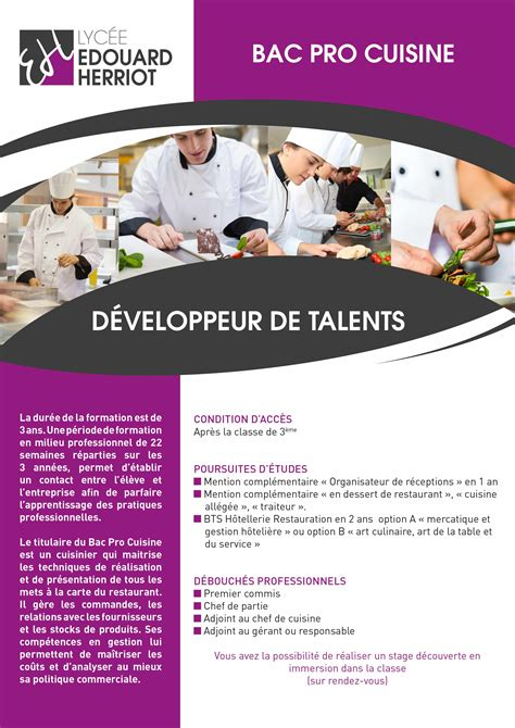 recherche apprentissage cuisine bac pro apprentissage cuisine