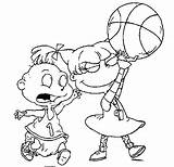 Coloring Nickelodeon Pages Basketball sketch template