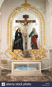 Mexico, Puerto Vallarta. Interior of The Our Lady of ...