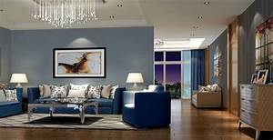 modern living room interior decorating ideas with blue With blue sofa living room design