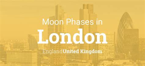 moon phases  lunar calendar  london england