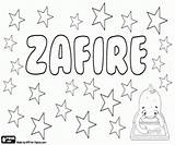 Coloring Pages Variant Zafira Zafire Names Printable sketch template