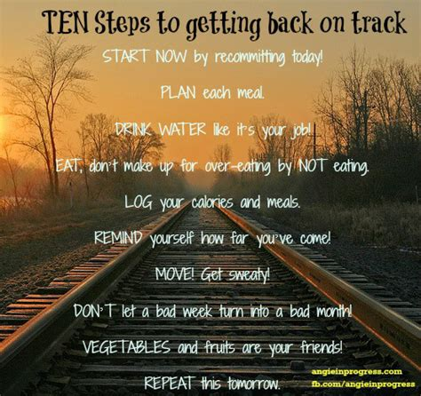 10 Steps For Getting Back On Track Obesityhelpcom
