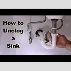 How To Unclog A Sink  By Home Repair Tutor  Youtube