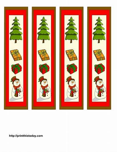 Bookmarks Printable Bookmark Printables Printablee Tree Snowman