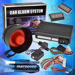 Jdm Remote Starter Engine Start Car Alarm System With Siren Eclipse Lancer Evo