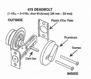 Sargent 475 Single Cylinder Deadlock  Deadbolt  Dead Bolt
