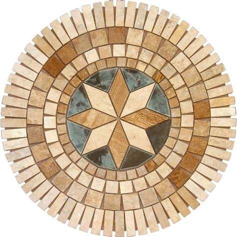 wall tile medallions ms international medallion 7116 36 in travertine floor and wall tile discontinued smot med
