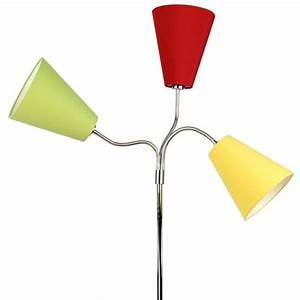 Stehlampe Gelb : retro design stehlampe flexa stehleuchte 3 schirme rot ~ Pilothousefishingboats.com Haus und Dekorationen