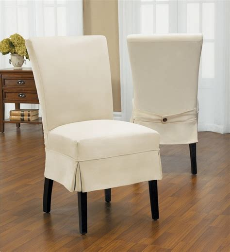 duck mid pleat relaxed fit dining chair slipcover with