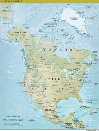 Ģeogrāfiskā karte - Ziemeļamerika - 1,514 x 2,009 Pikselis ...