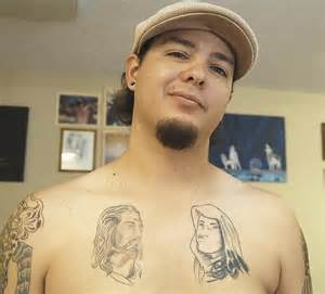 Virgin Mary Tattoo On Chest