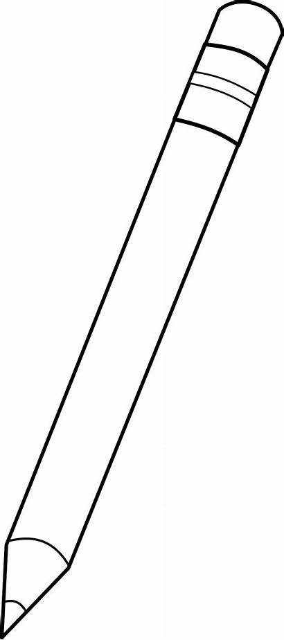 Pencil Outline Crayon Mine Clipart Clip Vector