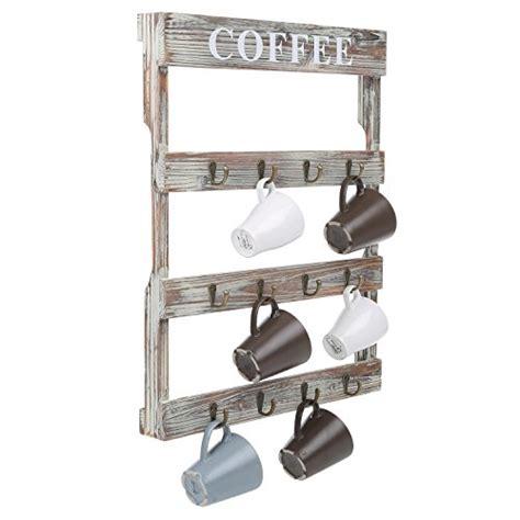 wall cup rack hook rustic wall mount coffee mug tea cup rack holder