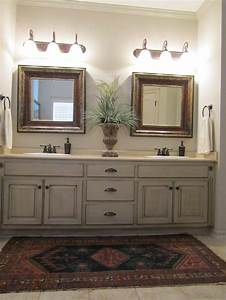 painted and antiqued bathroom cabinets bathrooms With painted vanities bathrooms