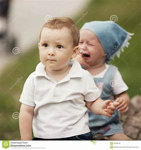 Little Boy And Crying Girl Royalty Free Stock Photography ...