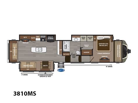 montana 5th wheel floor plans keystone montana 3810 ms rvs for sale in new york