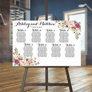 Wedding Seating Chart Printable Seating Chart Blush