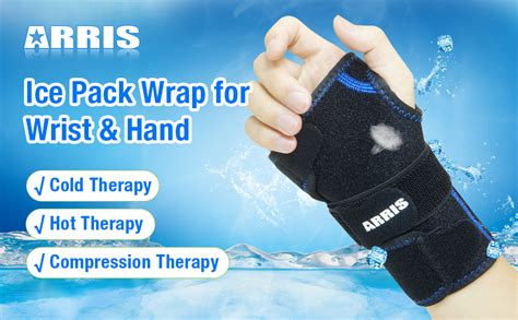 Amazon.com: Wrist Ice Pack Wrap - Hand Support Brace with