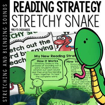 stretchy snake reading strategy stretching blending
