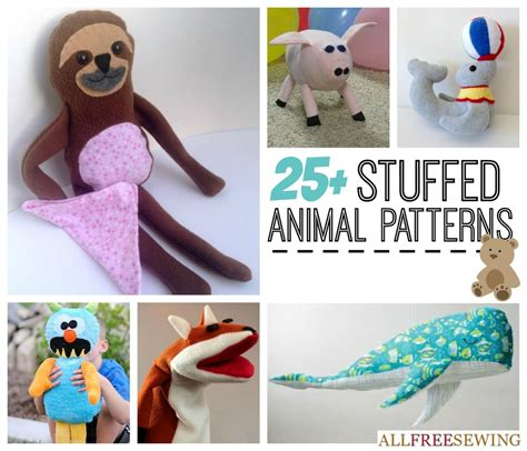 25 easy stuffed animal patterns allfreesewing com