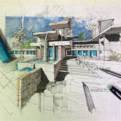 Nice Example Of Architectural Drawing Architectural