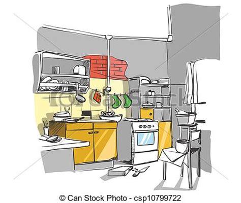 Unfallgefahren In Der Küche by Vektor Illustration Skizze Kueche Kueche Skizze