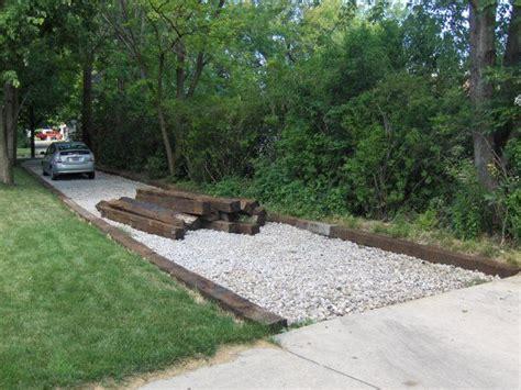 driveway edging materials railroad ties driveway edging google search gardening lene garden design pinterest