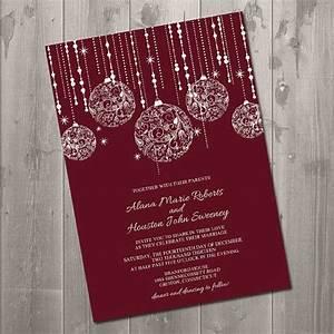 christmas sparkle wedding invitation diy printable With wedding invitations for december