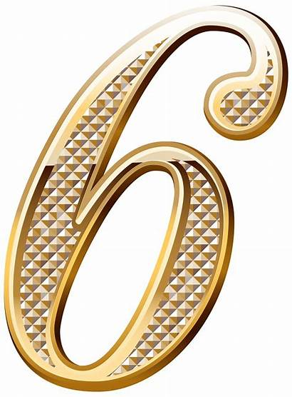 Number Clipart Six Deco Numbers Decorative Clip