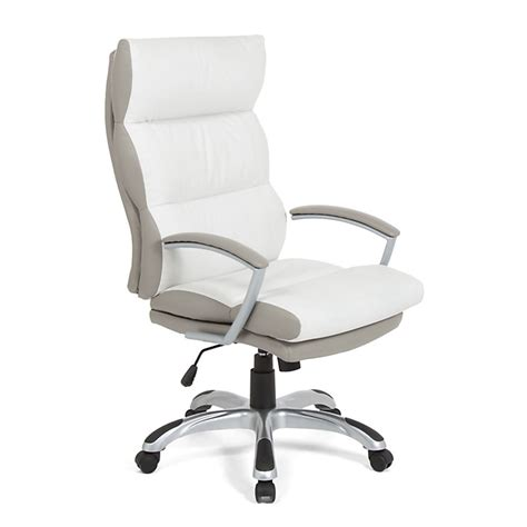 fauteuil de bureau 224 roulettes en polyur 233 thane blanc et taupe bureau ameublement salon