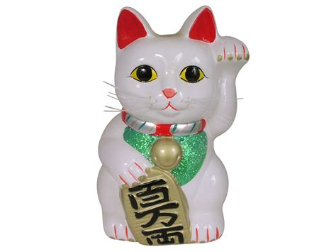 kitchen canisters ceramic sets white lucky cat coin bank