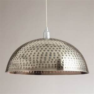 Hammered metal pendant lamp contemporary