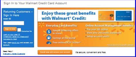 walmart credit card login walmart credit card  payment
