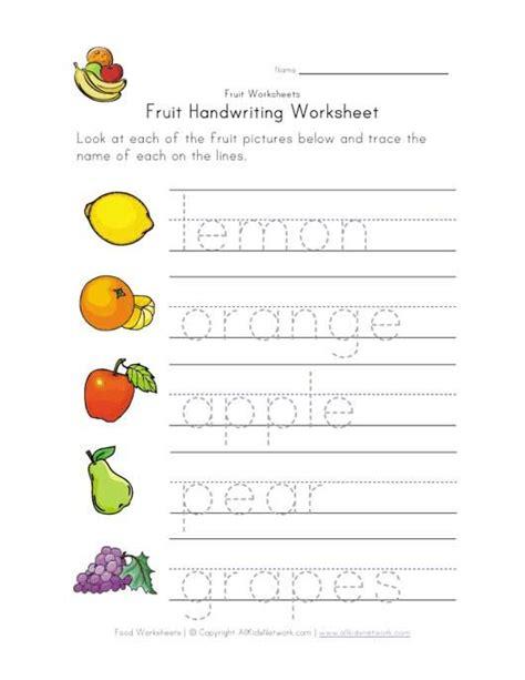 fruit writing worksheet home writing worksheets