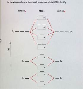 Solved  In The Diagram Below  Label Each Molecular Orbital