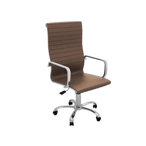 z line designs brown high back office chair zl9802 01mcu
