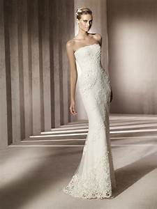 simple strapless lace wedding dress with beading With simple lace wedding dress