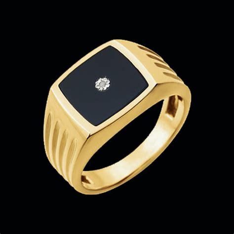 mens yellow gold onyx ring