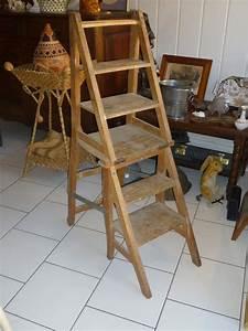 Escabeau En Bois Decoratif : chaise escabeau ancienne en bois le blog de jadis ~ Dode.kayakingforconservation.com Idées de Décoration