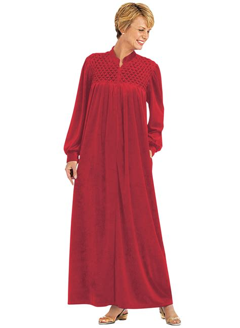 amazon robe de chambre femme zip front velour robe carolwrightgifts com