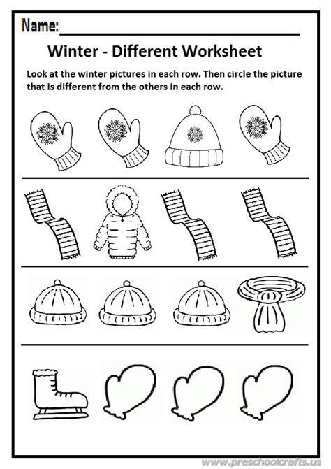 winter different worksheet preschool and kindergarten 111 | Winter different worksheet preschool and kindergarten