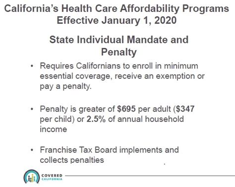 The requirement to have health insurance, which began in 2014, applies to adults and children alike, but there are exceptions for certain groups of people and many more people will be able to avoid the penalty altogether because their income is below the filing threshold. California Penalty For Not Having Health Insurance
