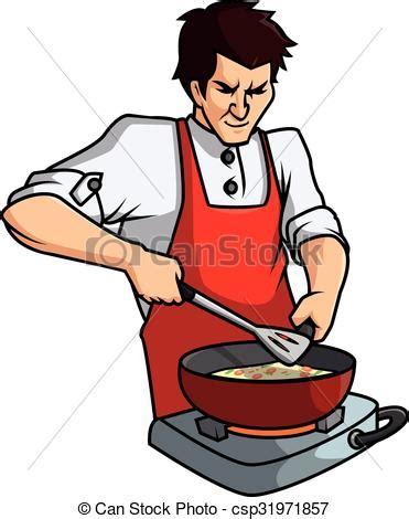 dessin animé de cuisine vecteur clipart de vecteur cuisine homme dessin animé